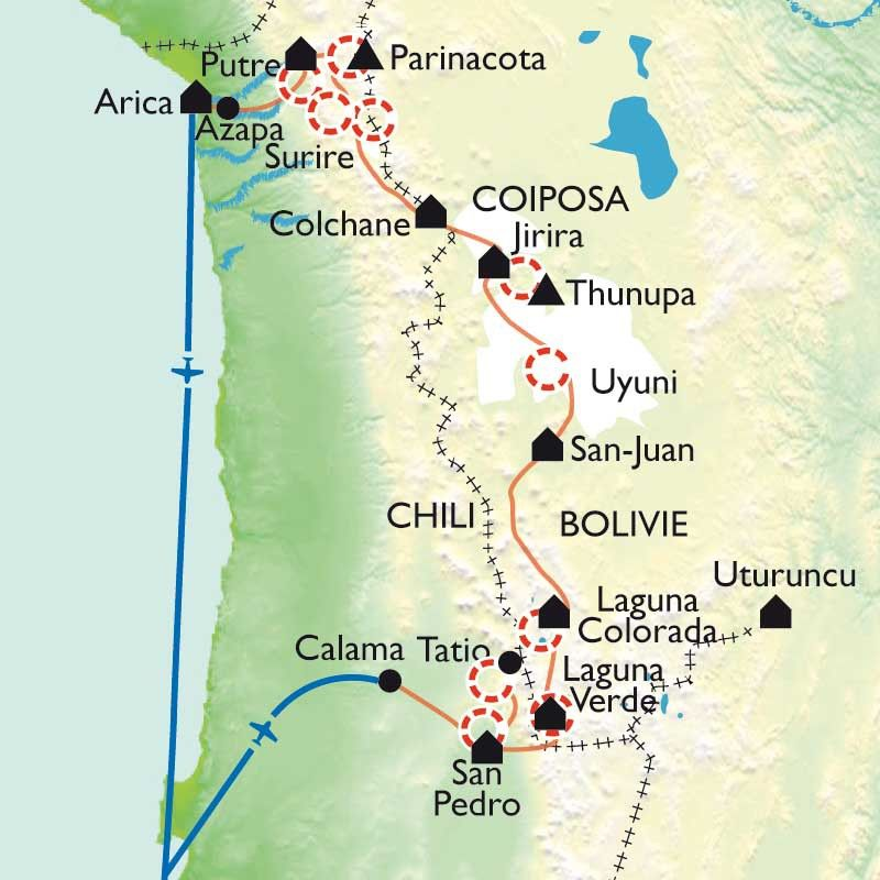 [KEY_MAP] - Chili/Bolivie - Altiplano andino, désert des Andes