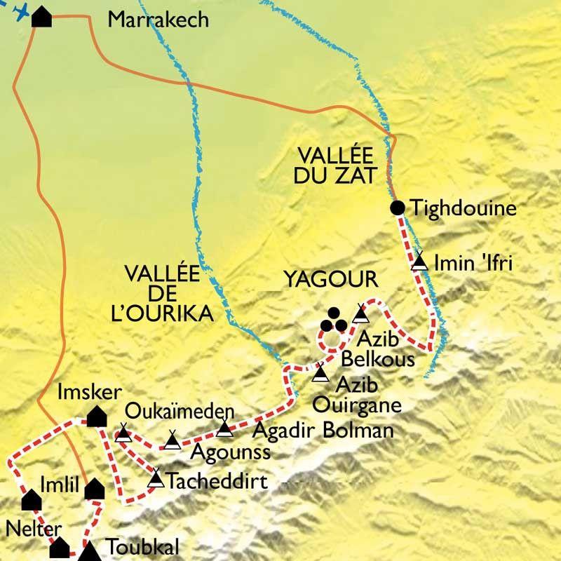 [KEY_MAP] - Maroc - Des villages du Haut Atlas au sommet du Toubkal