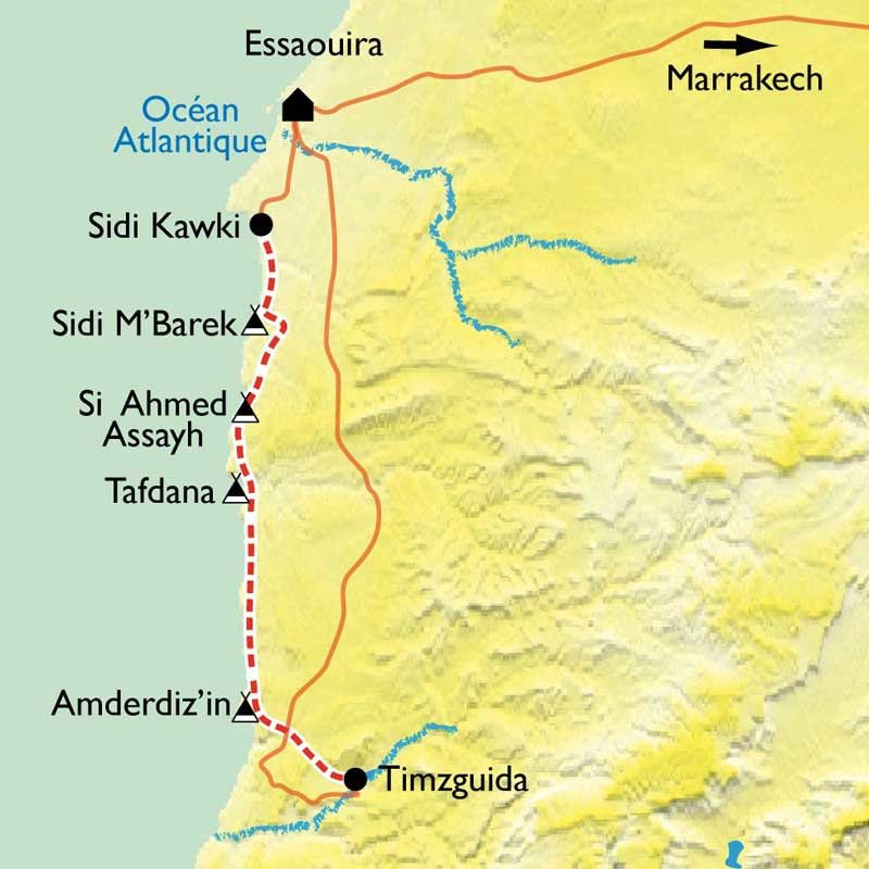 [KEY_MAP] - Maroc - Essaouira et la côte Atlantique