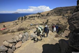 Le long du lac Titicaca
