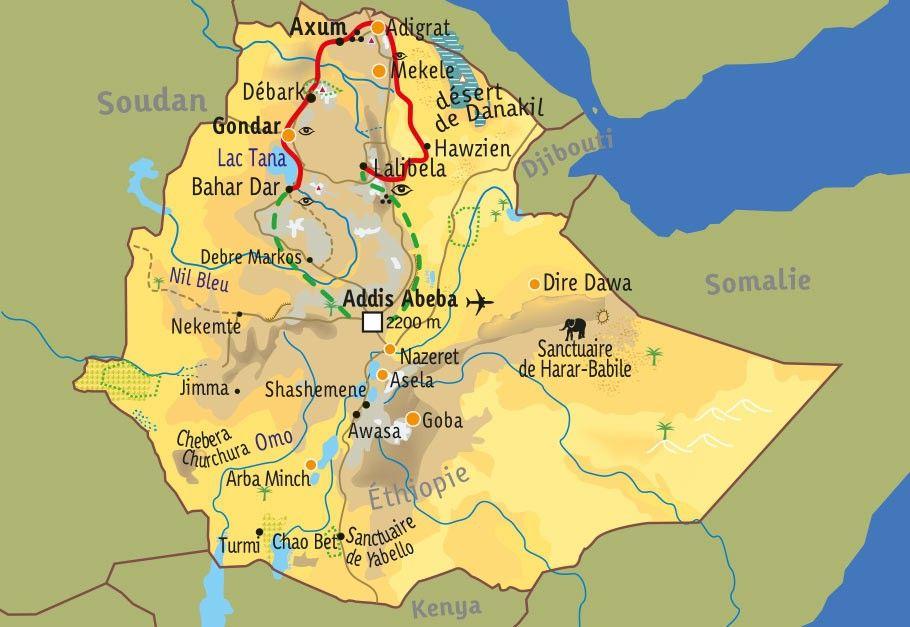 [KEY_MAP] - Ethiopie - L'Abyssinie et ses hauts plateaux
