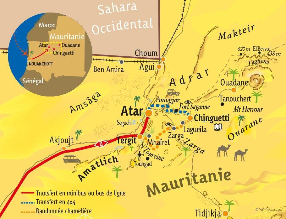 [KEY_MAP] - Mauritanie - Zarga, de Chinguetti la Sainte à la palmeraie de Tergit
