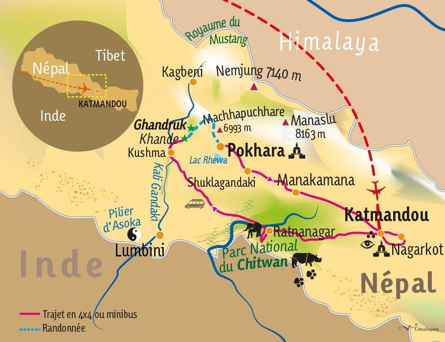 [KEY_MAP] - Népal - Katmandou,Chitwan et Annapurna