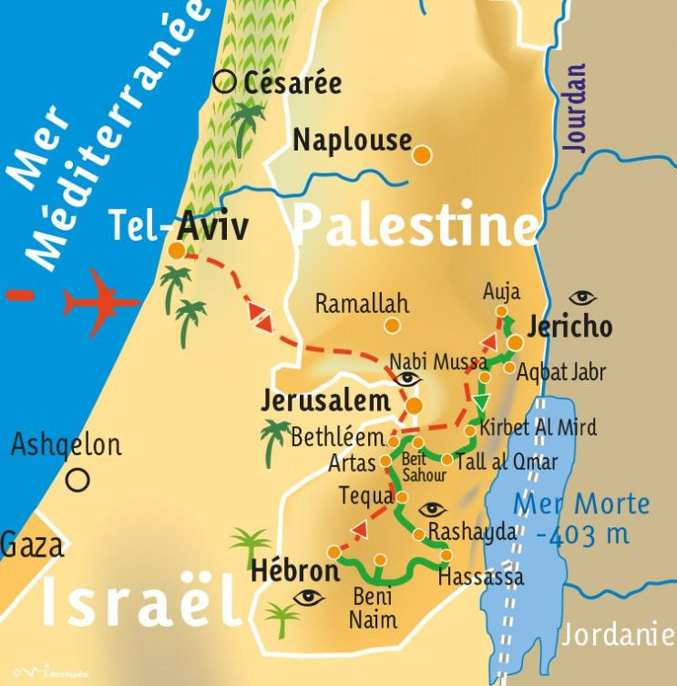 [KEY_MAP] - PALESTINE - Le sentier d'Abraham - en 12 jours