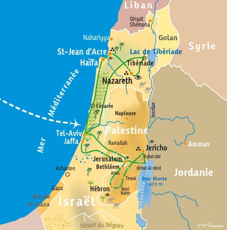 [KEY_MAP] - ISRAËL/PALESTINE - La Terre Sainte