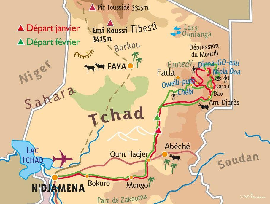 [KEY_MAP] - TCHAD - Mieux comprendre l'Art Rupestre au Tchad