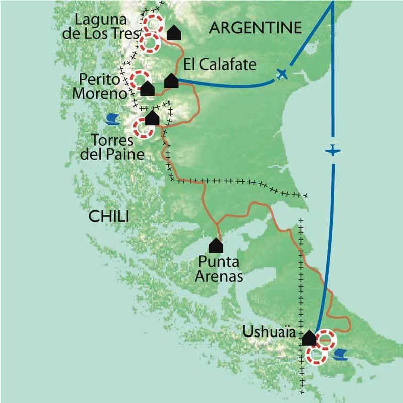 [KEY_MAP] - Argentine/Chili - Patagonie et Terre de feu