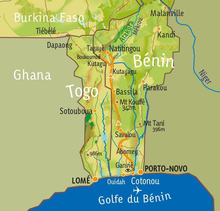 [KEY_MAP] - Bénin - Randonnée en Pays Somba
