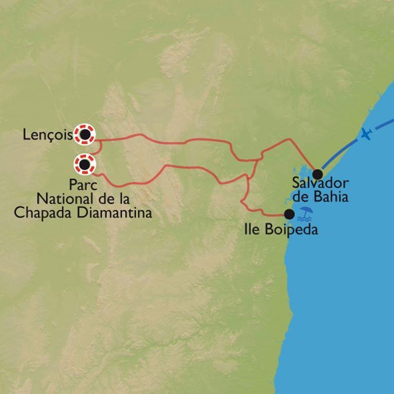 [KEY_MAP] - Brésil - De la Chapada Diamantina à l'île Boipeba