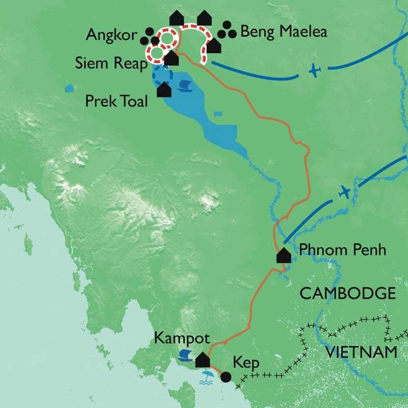 [KEY_MAP] - Cambodge - Angkor, la voie royale des temples oubliés