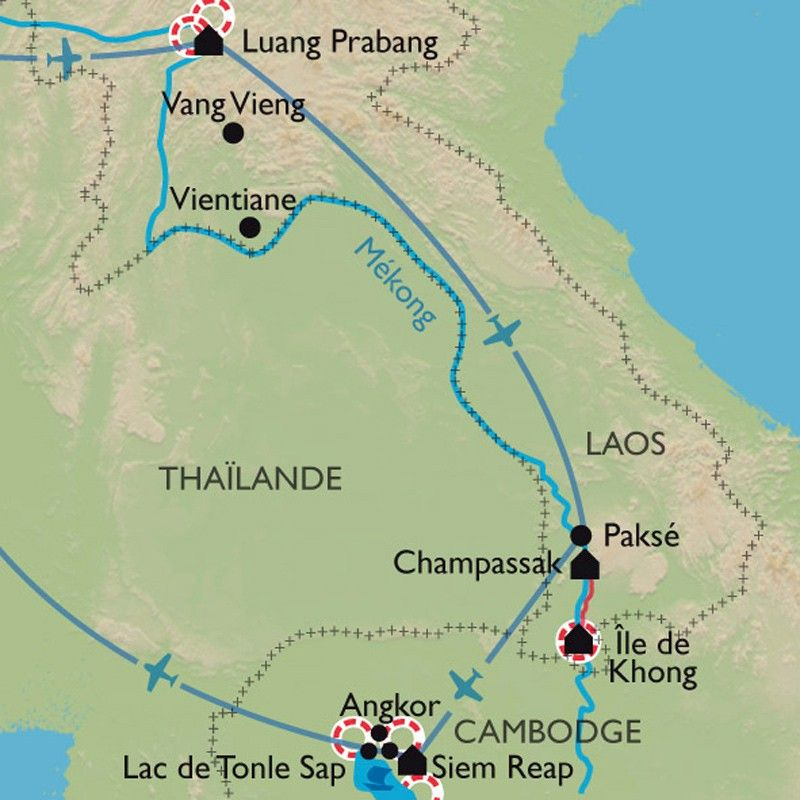 [KEY_MAP] - Laos/Cambodge - De Luang Prabang à Angkor