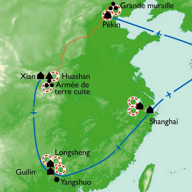 [KEY_MAP] - Chine - De la Grande Muraille à Guilin