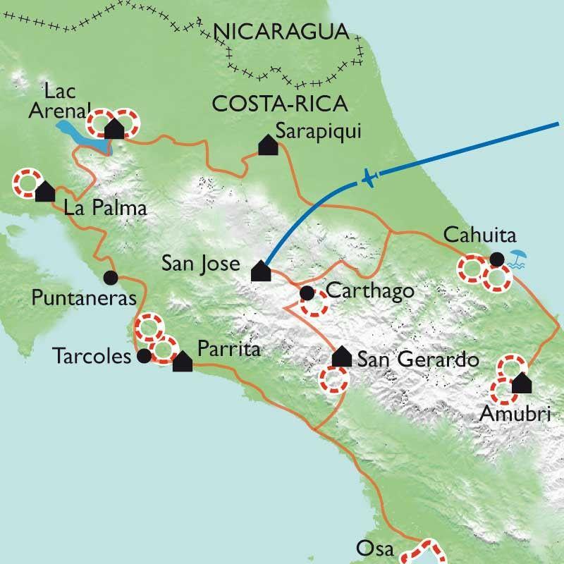 [KEY_MAP] - Costa Rica - Randonnée au paradis vert