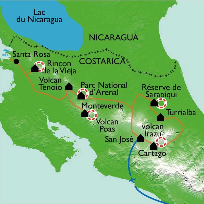 [KEY_MAP] - Costa Rica - Une nature volcanique