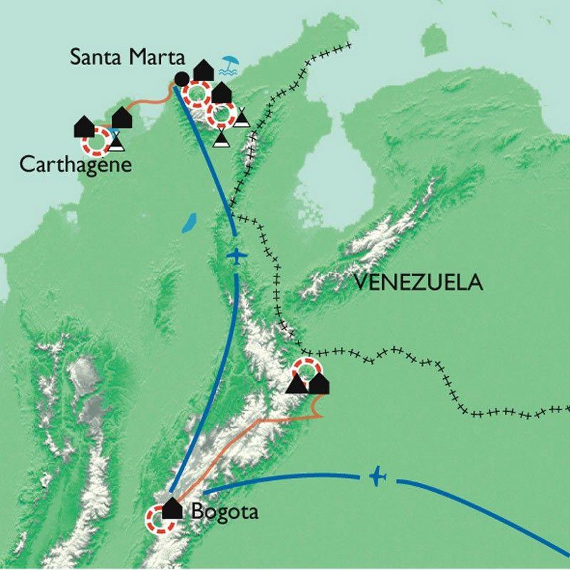 [KEY_MAP] - Colombie - De la Sierra Nevada del Cocuy à la Cité Perdue