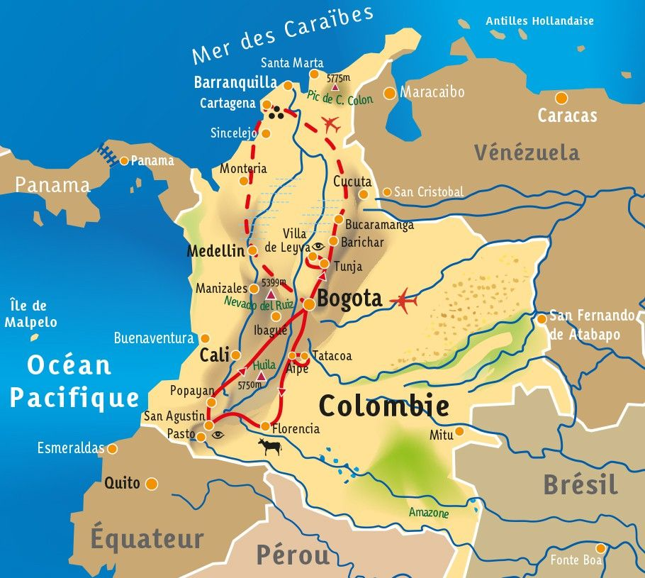 [KEY_MAP] - Colombie - Un condensé d'Amérique Latine