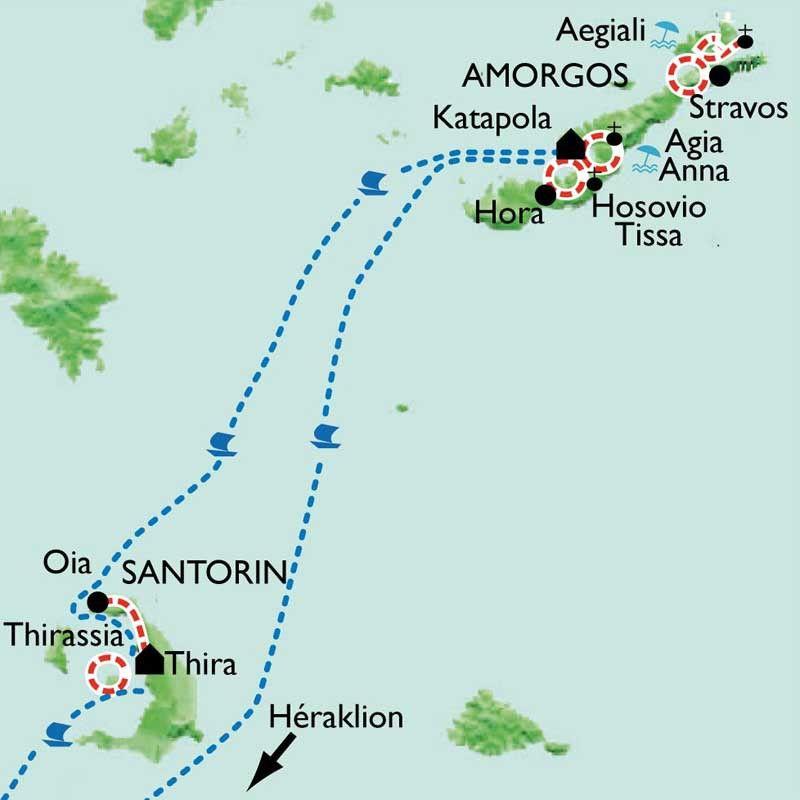 [KEY_MAP] - Grèce - Les Cyclades - Amorgos et Santorin