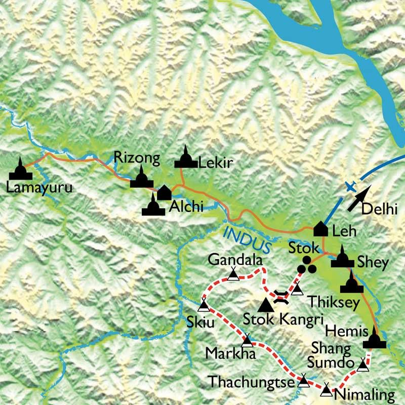 [KEY_MAP] - Inde/Ladakh - Trek dans le désert himalayen