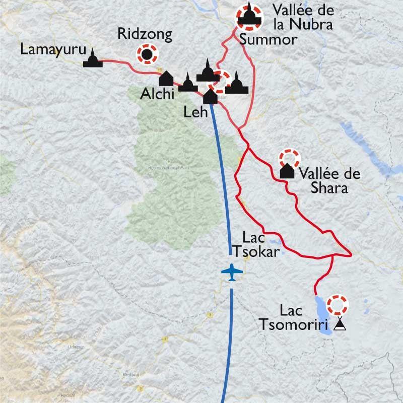 [KEY_MAP] - Inde/Ladakh - Festival et monastères au petit Tibet