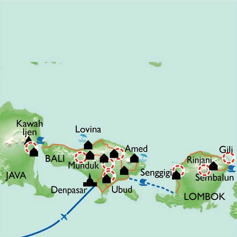 [KEY_MAP] - Indonésie - Java / Bali / Lombok : Chef-d'oeuvre des dieux