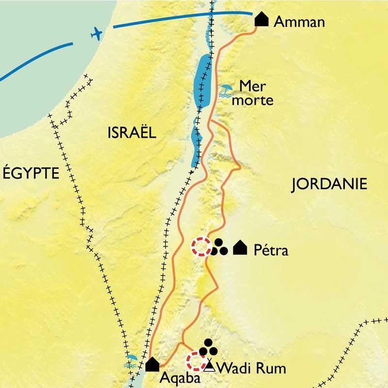 [KEY_MAP] - Jordanie - De la route des Rois à Aqaba