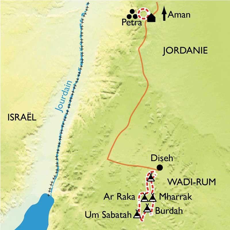 [KEY_MAP] - Jordanie - Le désert du Wadi Rum