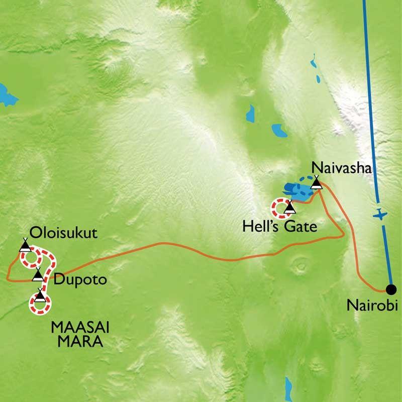 [KEY_MAP] - Kenya - Kenya Masaï Mara et vallée du Rift