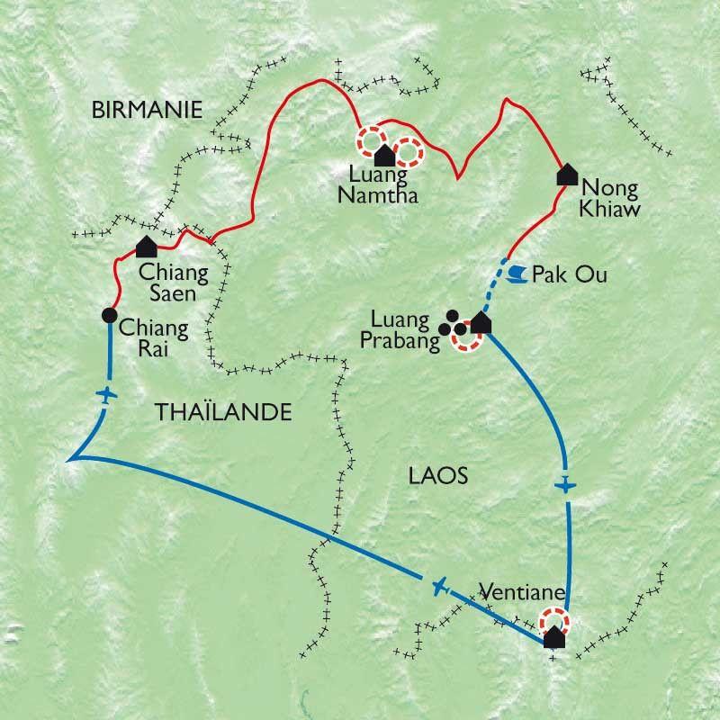 [KEY_MAP] - Laos - Luang Prabang, trek et Mekong