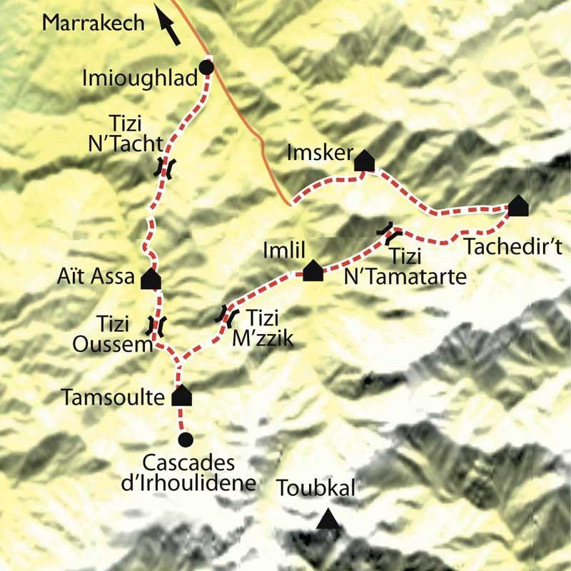 [KEY_MAP] - Maroc - Au pays du Toubkal au rythme des Tazerdounes