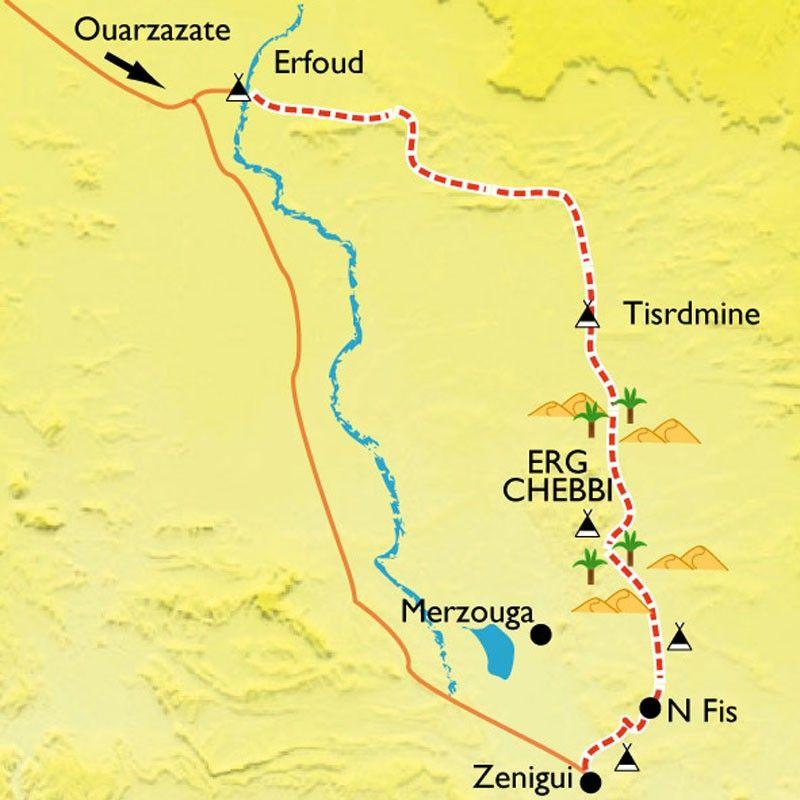 [KEY_MAP] - Maroc - Dunes dorées de Merzouga