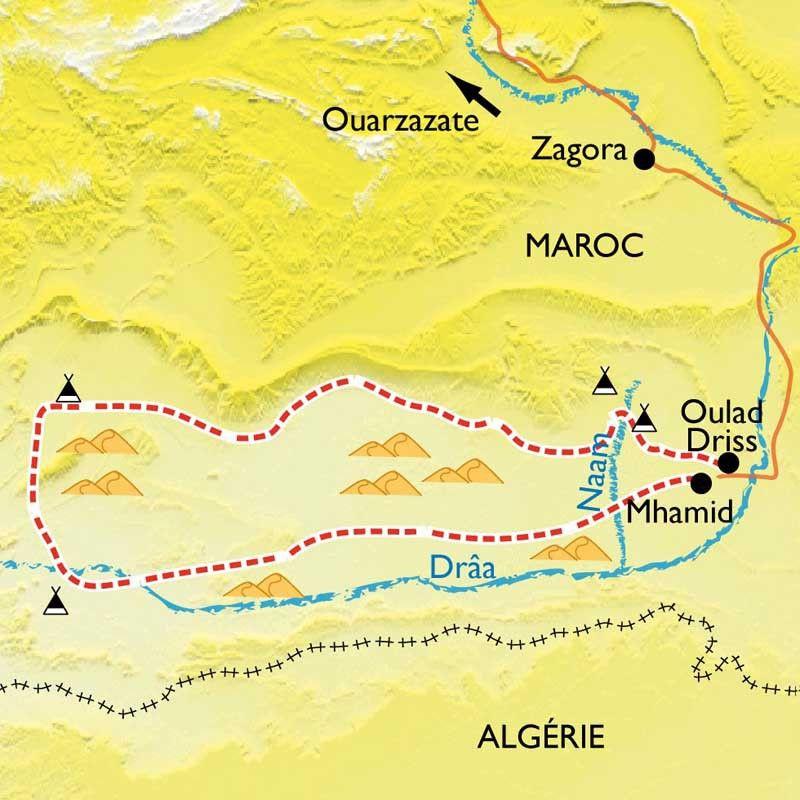 [KEY_MAP] - Maroc - Dunes et oasis du Sud marocain