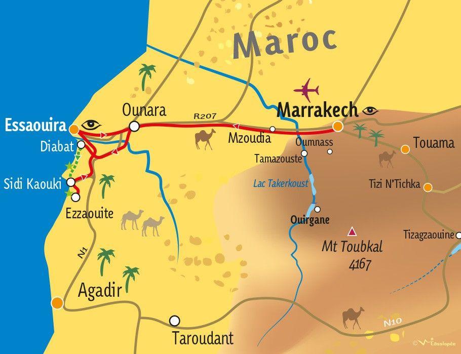 [KEY_MAP] - MAROC - Mini-rando Atlantique au sud d'Essaouira