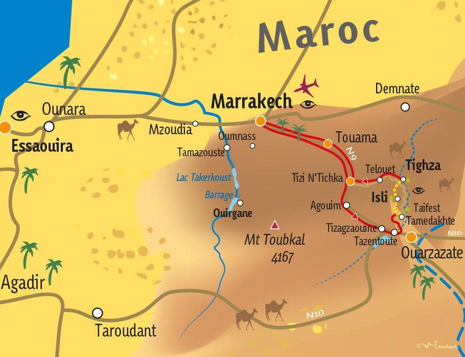 [KEY_MAP] - MAROC - Versant sud du Haut Atlas en mini-rando