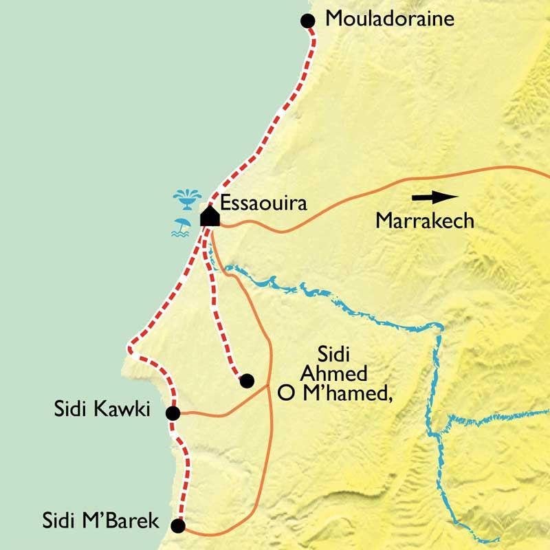 [KEY_MAP] - Maroc - Rando-Hammam à Essaouira