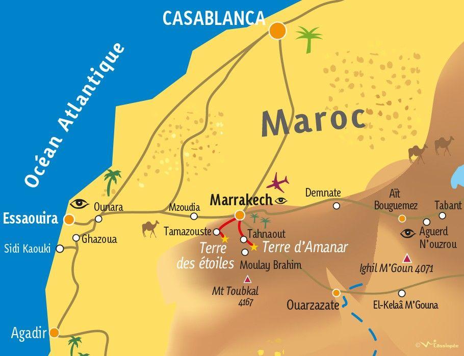 [KEY_MAP] - MAROC - Immersion nomade - Du désert d'Agafay à la vallée d'Asni