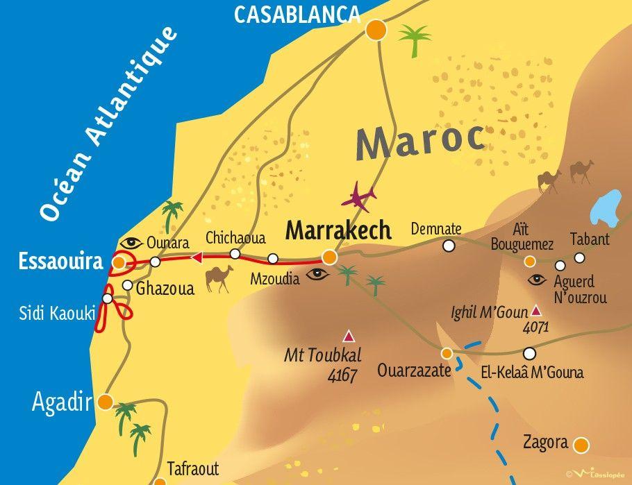 [KEY_MAP] - MAROC - Rando atlantique au sud d'Essaouira