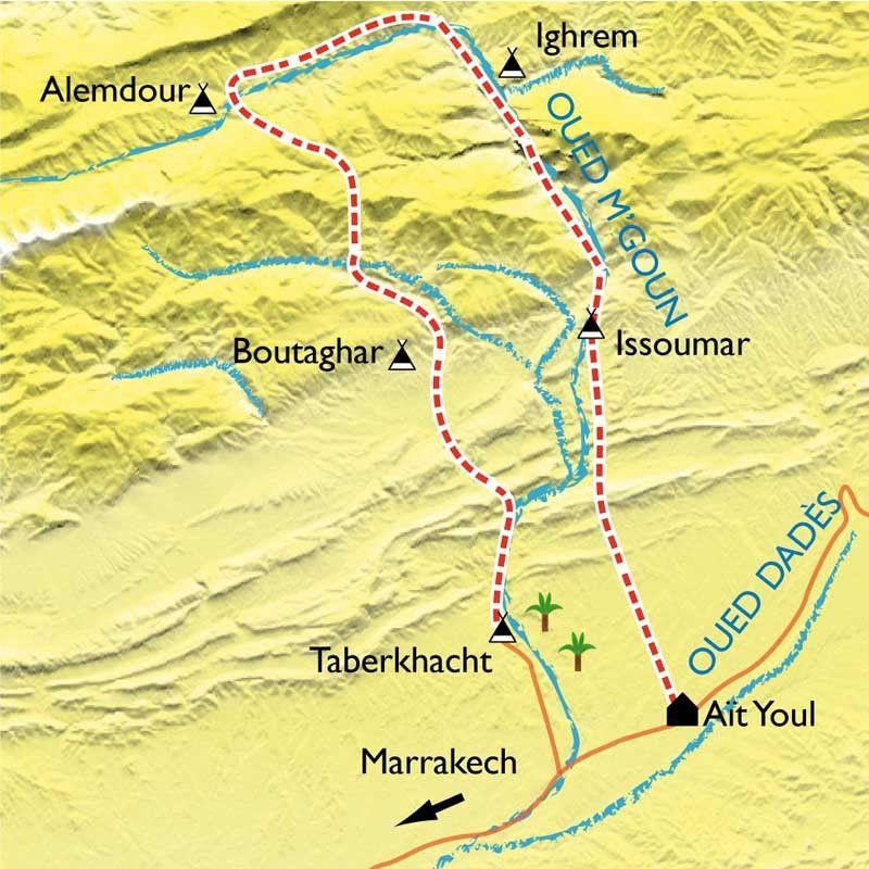 [KEY_MAP] - Maroc - Vallée des Roses et des casbahs
