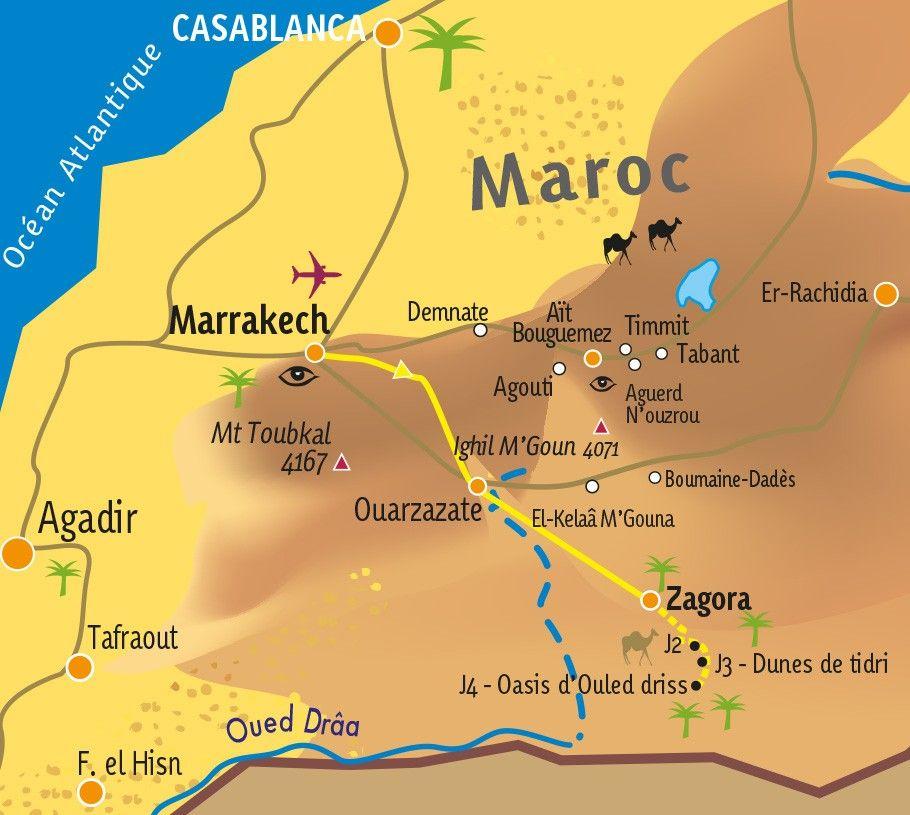 [KEY_MAP] - MAROC - Rando chamelière dans la vallée du Draa
