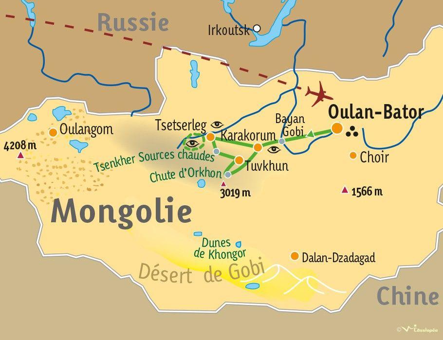 [KEY_MAP] - MONGOLIE  - Kaléidoscope mongol : la steppe à pied, à cheval et en 4x4