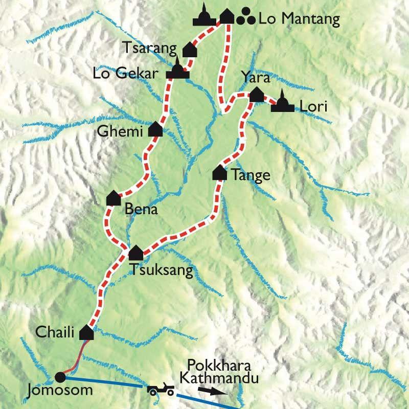 [KEY_MAP] - NEPAL - Royaume du Mustang et grottes secrètes