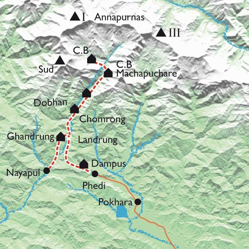 [KEY_MAP] - Népal - Sanctuaire des Annapurnas