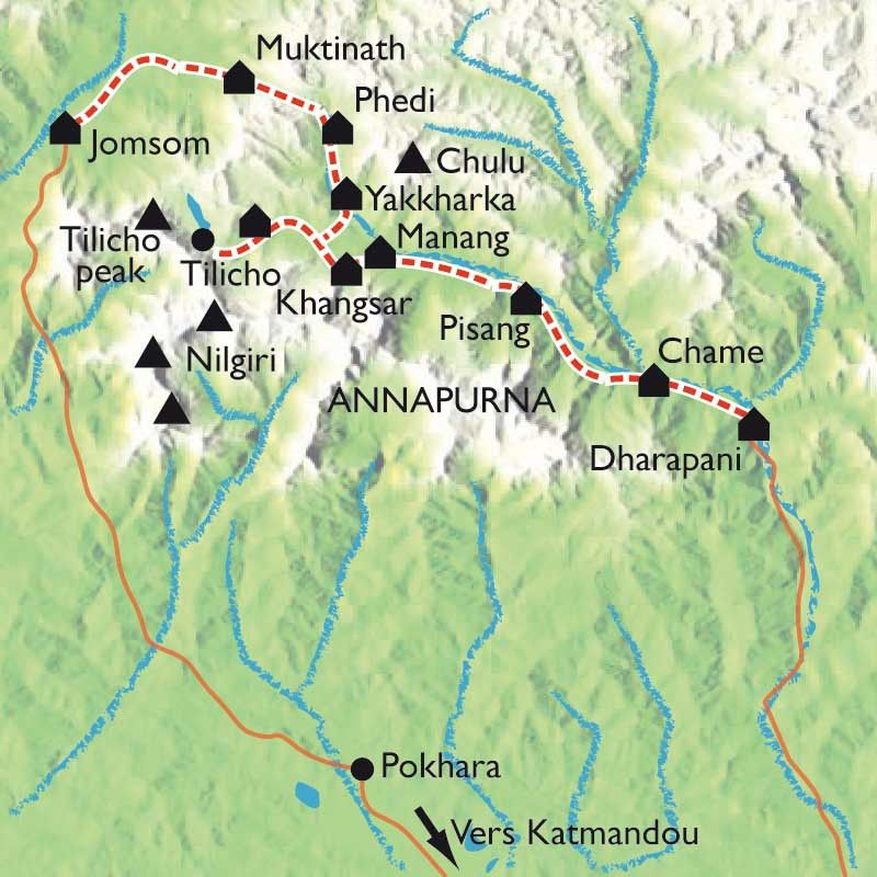 [KEY_MAP] - Népal - Tour des Annapurnas