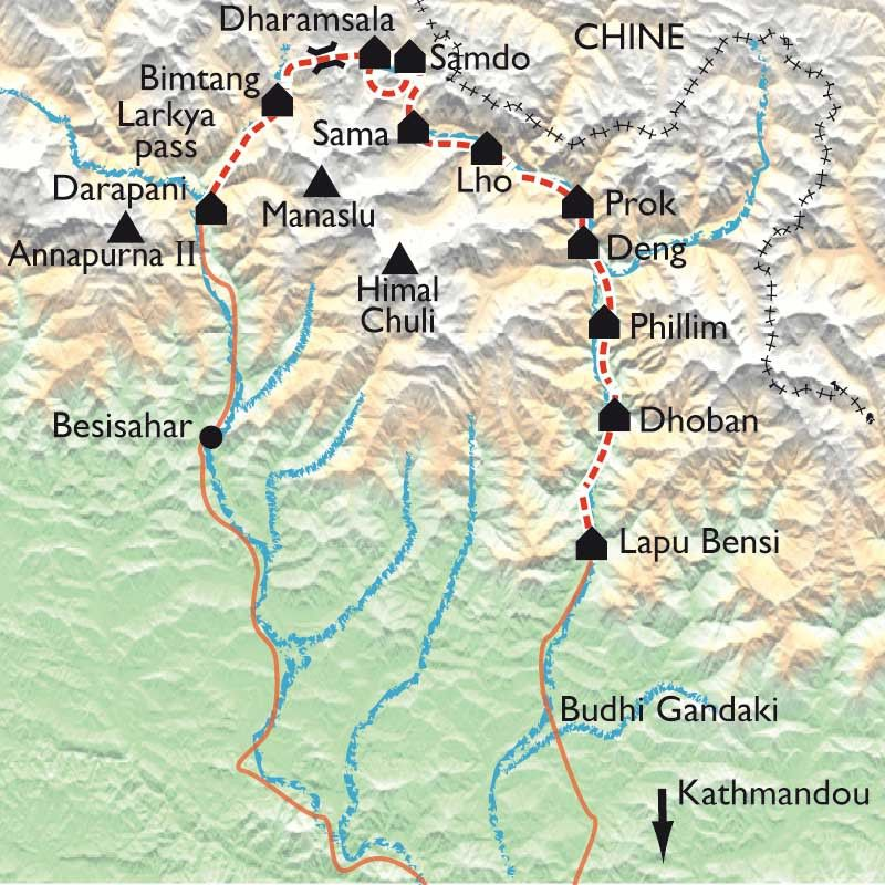 [KEY_MAP] - Népal - Tour du Manaslu
