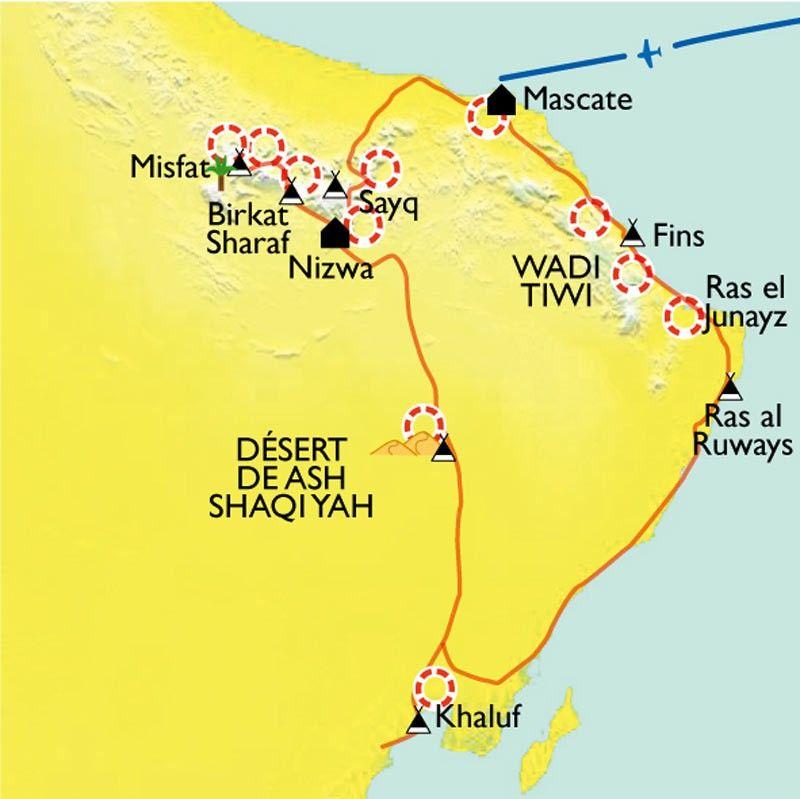 [KEY_MAP] - Oman - Montagnes, dunes et océan.