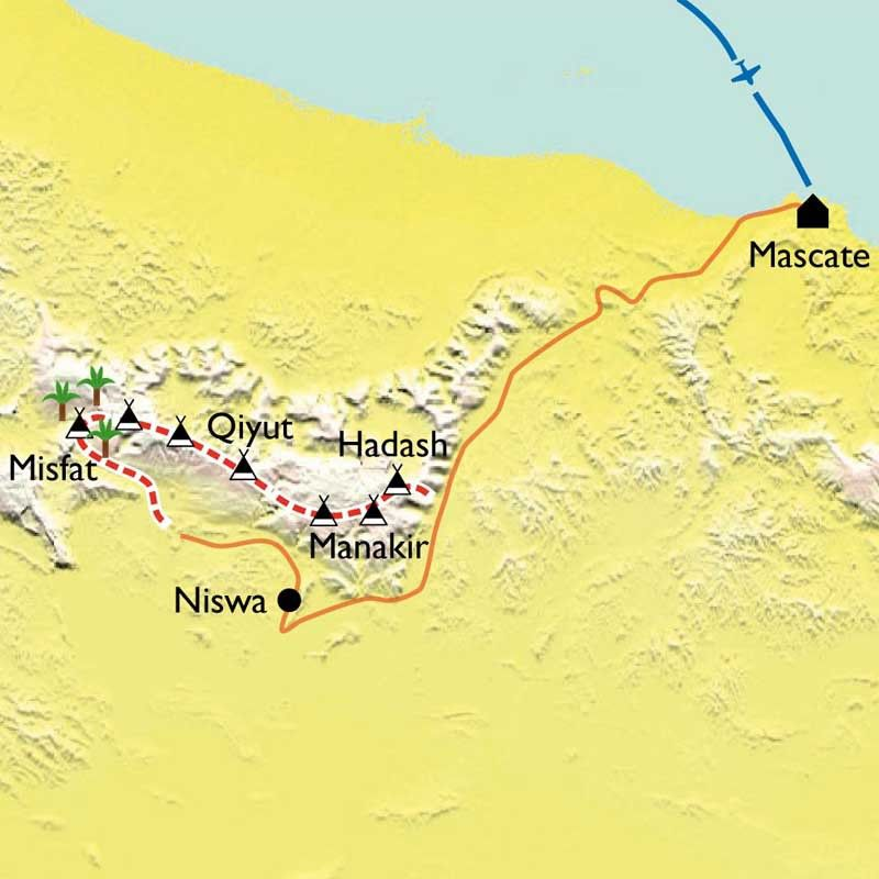 [KEY_MAP] - Oman - Traversée du Jebel Akhdar