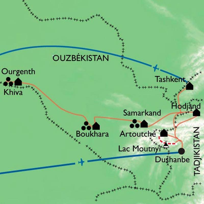 [KEY_MAP] - Ouzbékistan/Tadjikistan - Sentiers oubliés du Pamir et Route légendaire de Samarkand