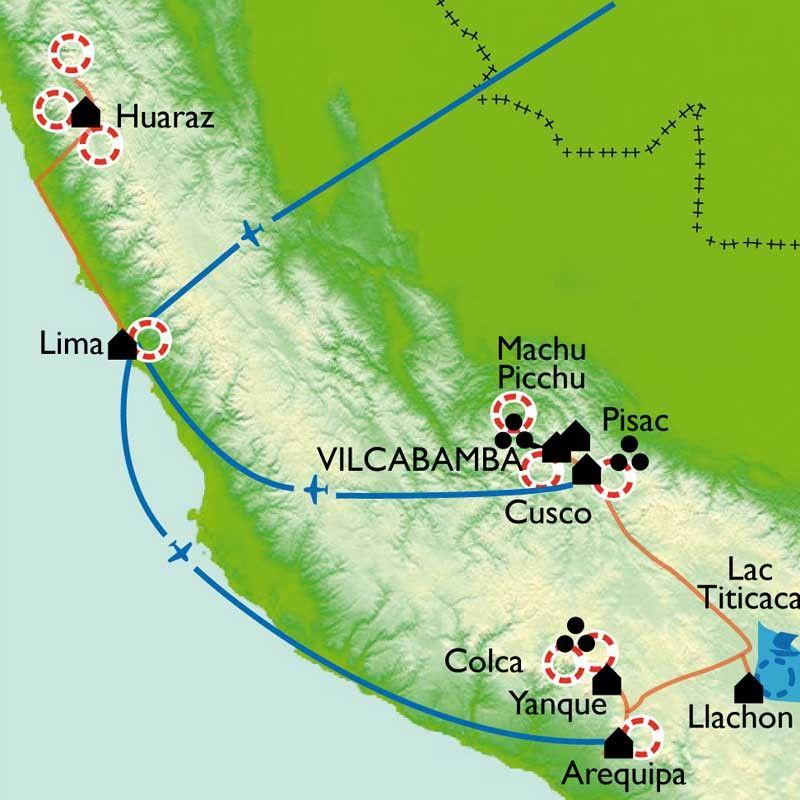 [KEY_MAP] - Pérou - De la cordillère de Vilcabamba à la cordillère Blanche