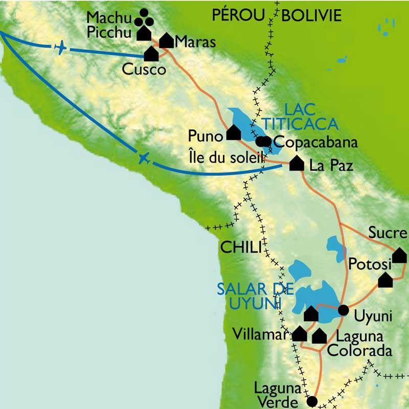 [KEY_MAP] - Pérou/Bolivie - Des cités incas au désert de l'Altiplano