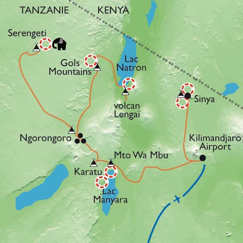 [KEY_MAP] - Tanzanie - Terres masaï, rando, rencontres et safari