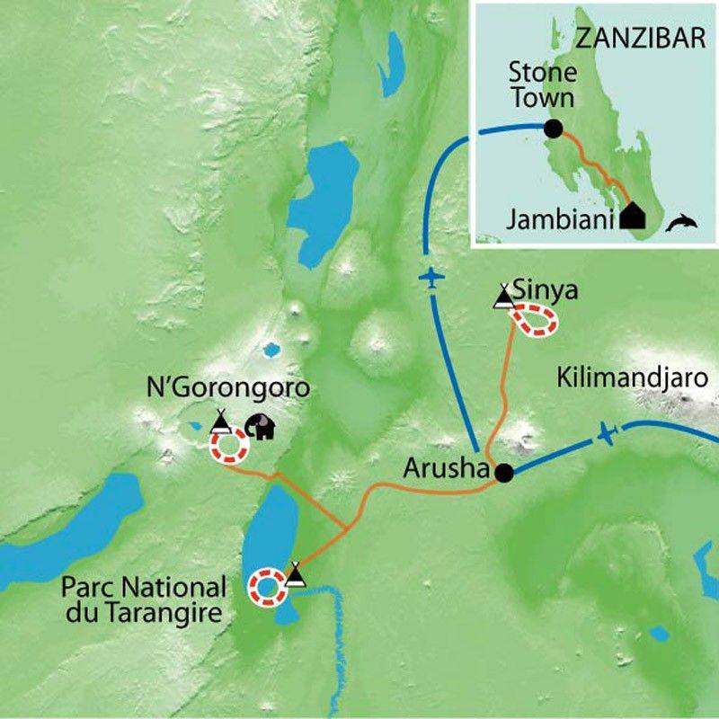 [KEY_MAP] - Tanzanie Zanzibar - De Ngorongoro à Zanzibar